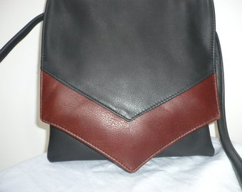 TWO TONE CROSSBODY Adjustable Strap Naked Leather Bag Style #249-2T