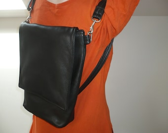 LEATHER BACKPACK and CROSSBODY  Shoulder Bag. Style #230