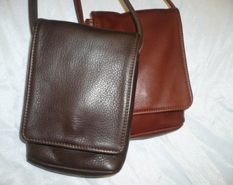 Crossbody leather cell phone bag #178X