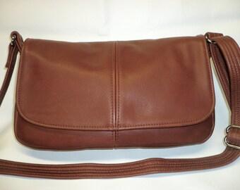 SOFT LEATHER CROSSBODY Adjustable Strap Handbag Style #232