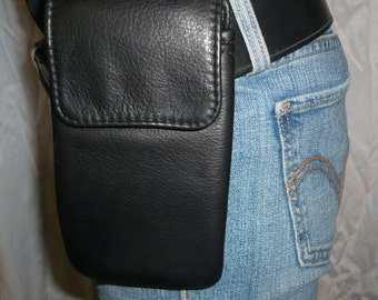 LEATHER CELL PHONE Wearable Padded Case Style #767