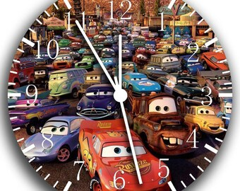 Disney Cars Mcqueen Black Frame Wall Clock Nice For Gifts or Decor W63