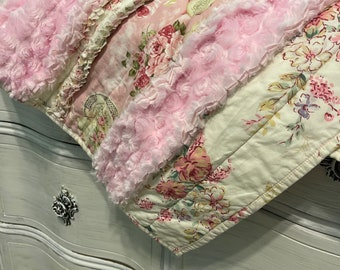 Shabby Chic Baby Rag Quilt Tea Party