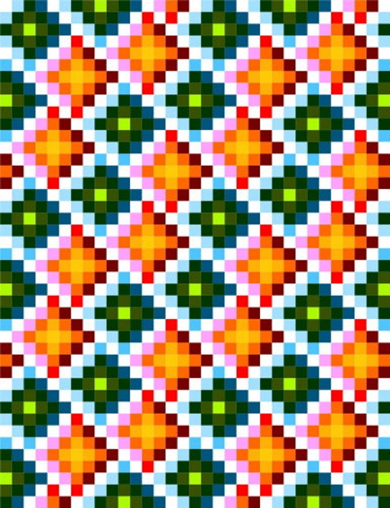 0003 3D Checkers Quilt Pattern