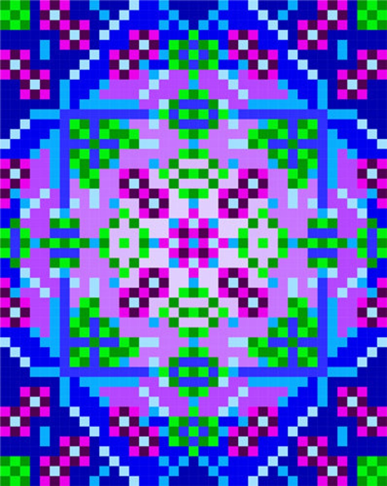 0057 Mandala Flower Quilt Pattern