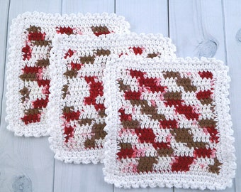 Handmade Washcloths - Set of 3