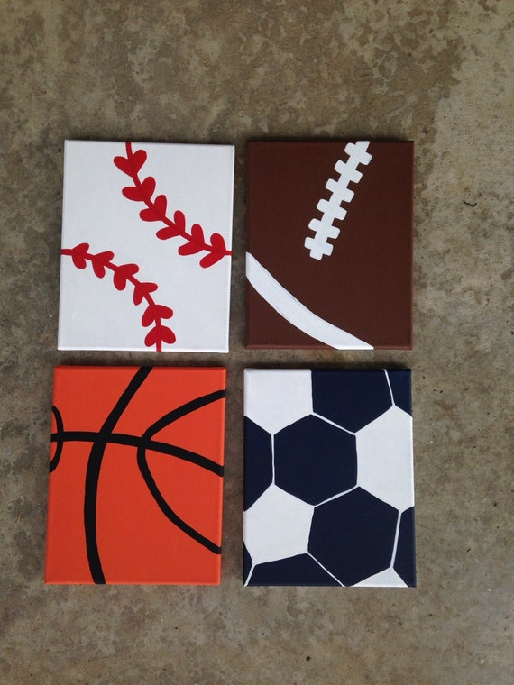 Items Similar To Sports Decor Sports Signs Boys Nursery Boys Room Sports Theme Canvas Set