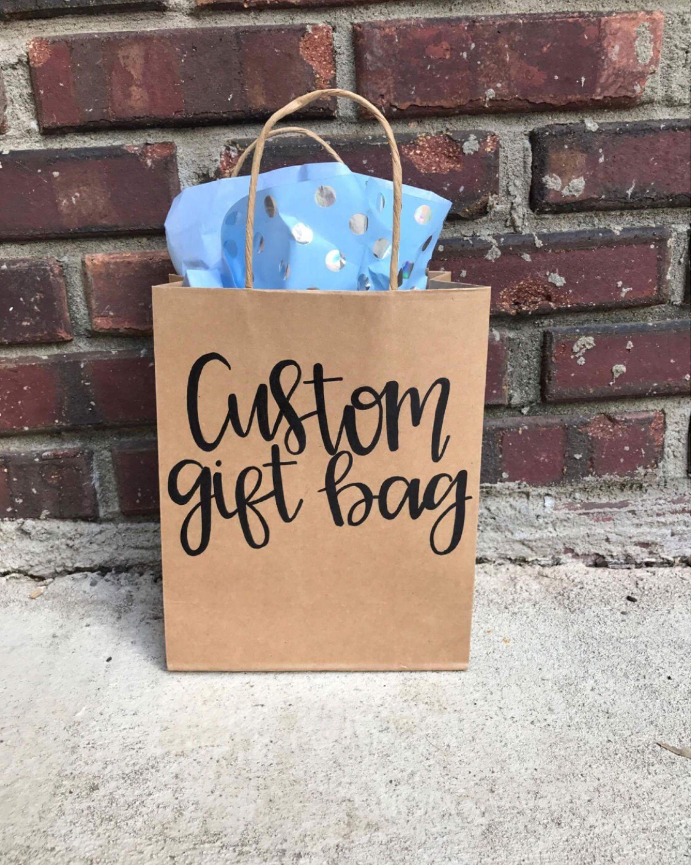 Custom Gift Bag Personalized Gift Bag Lettered Gift Bag Etsy