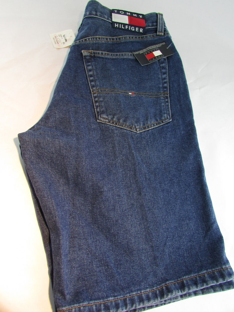 0320aeb815a Vintage Tommy Hilfiger Freedom Shorts Spell Out Denim