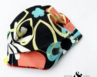 Small Child Flower Power Handmade Mask Reusable Washable Reversible