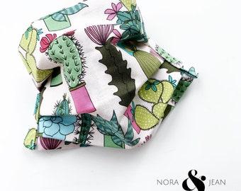 Succulents Boho Handmade Face Mask Reversible, Washable, Reuseable