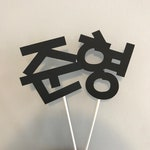 Custom Korean Name Cake Topper