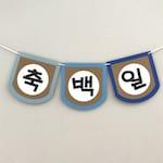Custom Korean Happy 100 Days Banner (축백일)