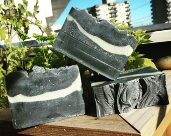 Activated Charcoal and French Green Clay face cleansing bar