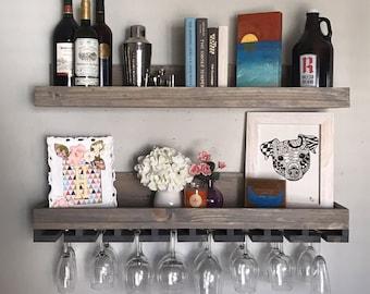 Bar Shelf   Etsy