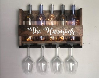 New Wall Mount Wine Glass Holders