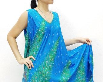 Penny Dress Midi Dress Rayon Dress Boho Dress Hobo Dress Maternity Dress Casual Dress Sleeping Dress Comfy Dress Feather SkyBlue PND34