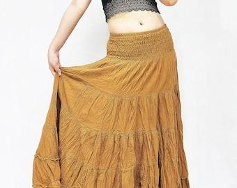 Bohemian skirt Cotton Skirt Natural skirt Wrap skirt Boho Skirt Hippie skirt Printed skirt Gypsy skirt