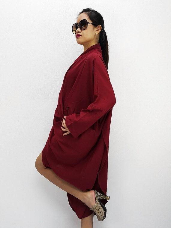 Blouse BY3248 Blouse Warp Organic Cotton Top Blouse Clothing Fashion Unique Blouse Cotton Cotton Natural Comfy Red Women rZ0Fr