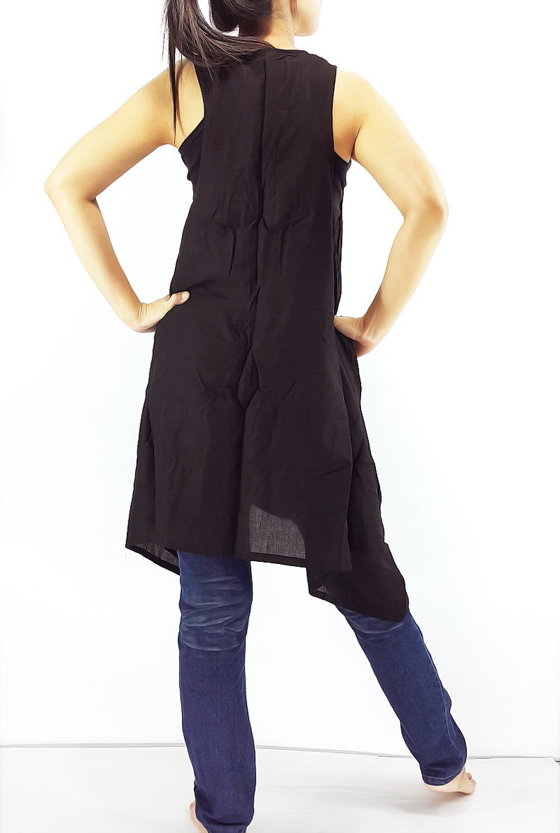 PRB12 Women Rayon Jackets Rayon Wraps Cloak Tank Top Colorful Jacket Unique Jacket Cropped Jackets Black