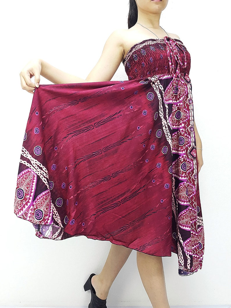 e5383d106 Women Dress Skirt Thai Dress Midi Dress Gypsy Dress Rayon | Etsy