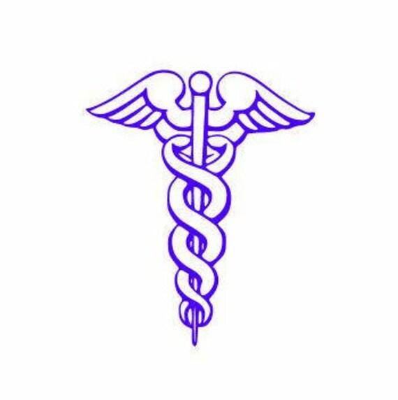 Caduceus Symbol Decal Greek Symbol For Medicine Greek Etsy