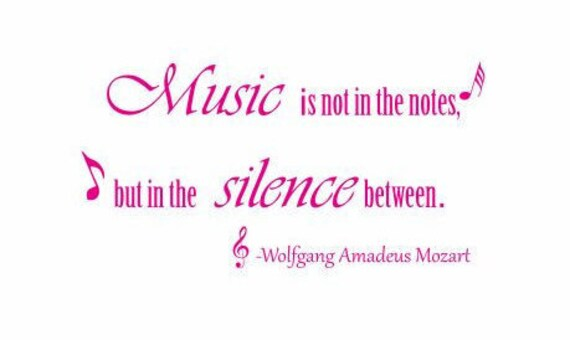 Music Decal: Mozart Decal Mozart Quote Famous Quotes | Etsy