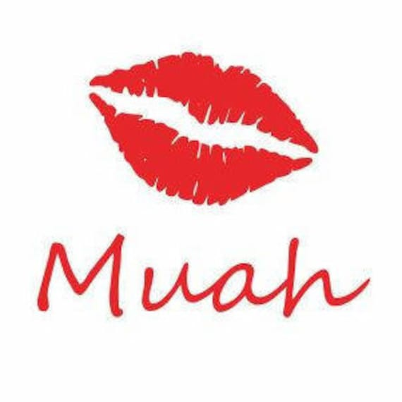 Muah Lips Decal Car Decals For Women Lips Decal For Car Etsy