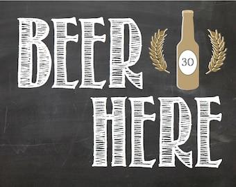 PRINTABLE Beer Here 8x10 PDF download