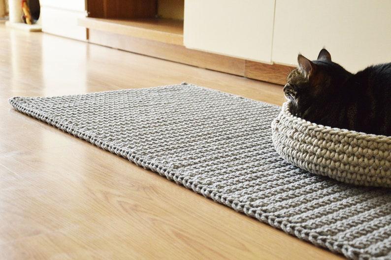 Crocheted Dywandziany Dywanhandmade Floor Matdywan Crochetdywan Kwadratowych