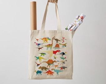 Canvas tote bag etsy dinosaurs canvas tote bag shopper dinosaur print shoulder bag fair trade canvas bag gift for her gift for him canvas tote gumiabroncs Images