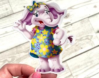 Cute elephant sticker, Elephant sticker, Kawaii elephant sticker, Sticker, Animal sticker, Cute animal sticker, Elephant character sticker