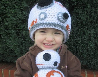 Round Robot Handmade Crocheted Baby and Toddler Hat/Baby Photography Prop/Baby Halloweern Accessory/ Robot Hat/ Robot Baby Hat/ Robot Toy