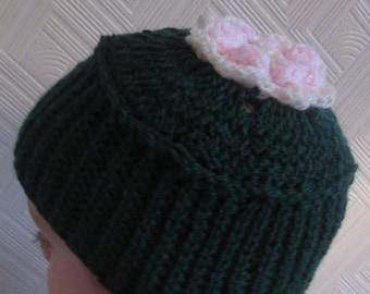 Secret Garden Inspired Handmade Crocheted Baby Hat/Toddler Hat/Springtime Hat/ St. Patrick's Day Hat/ Baby Photography Prop
