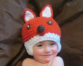 Fantastic Fox Handmade Crocheted Baby Set/ Newborn Photo Prop/Halloween Fox Baby Costume / Baby Fox Hat / Baby Shower Gift/ Fox Baby Outfit