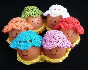 Easter Egg Bonnets and Eggholder Handmade Crocheted Set/ Easter Decor/Homewares/Kitchen Decor/ Easter Gift/ Easter Table Decor/ Centerpiece