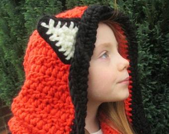 Felicity Fox Handmade Crocheted Baby Hooded Cowl/Toddler Hooded Cowl/Christmas Gift/ Fox Hat/ Hooded Cowl/ Fox Cowl