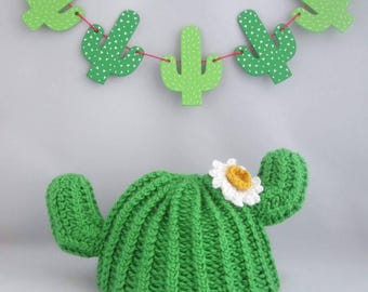 Handmade Crocheted Baby and Toddler's Cactus Novelty Hat/ Cactus Baby Hat/Cactus Toddler Hat/ Cactus Hat/Novelty Kid's Hat/Plant Beanie Hat
