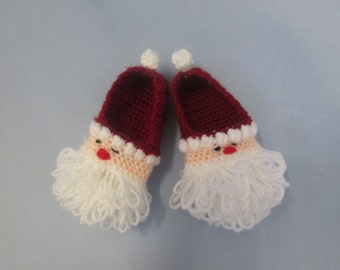 2b75bcc54 Santa Baby Handmade Crocheted Christmas Shoes/ Baby Booties/ Baby's First  Christmas/ Newborn Photography