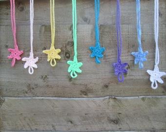 Rainbow Starfish Summer Handmade Crocheted Barefoot Sandals for Babies/Toddler Barefoot Sandals /Children's Barefoot Sandals/ Starfish Shoes