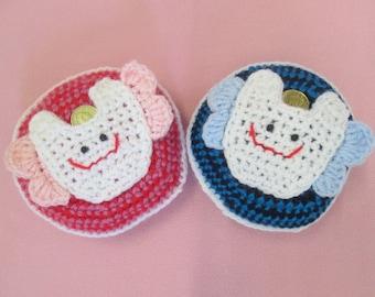 Handmade Crocheted Tooth Fairy Pillows