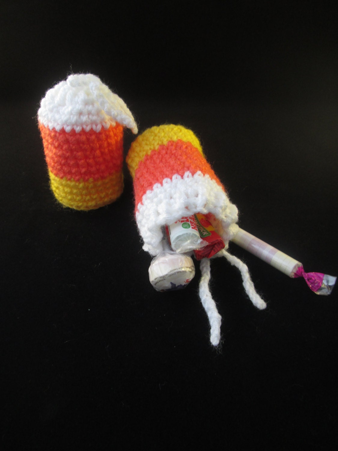 Halloween Candy Corn Handmade Crocheted Party Bags  Halloween ... c58042437ae1