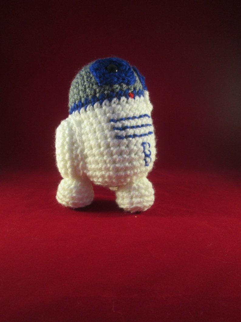 Tripod Robot Handmade Crocheted Amigurumi Doll/Robot Plush image 0