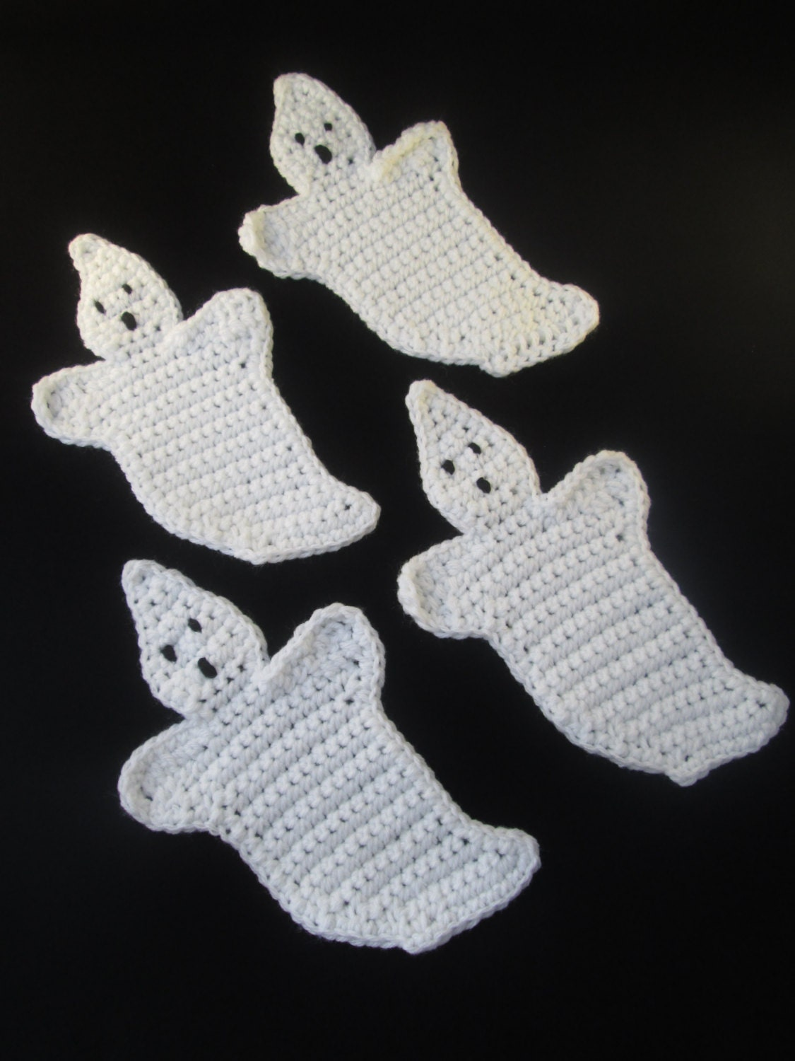 Image result for crochet ghost coasters