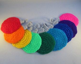 Holiday Handmade Crocheted Christmas Bauble Coasters/ Kitchen Coasters/ Bar Coasters