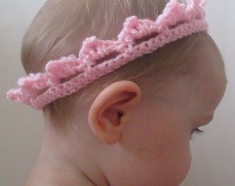 Royal Baby Handmade Crocheted Crown /Baby Shower Gift/ Baby Headband/Christening gift/Baby Tiara
