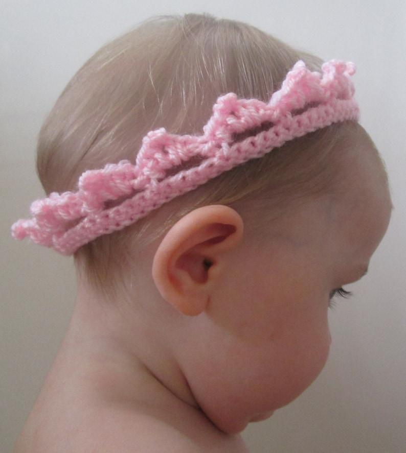 Royal Baby Handmade Crocheted Crown /Baby Shower Gift/ Baby image 0
