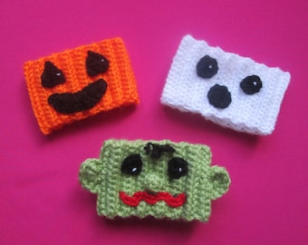 Halloween Handmade Crocheted Coffee Cup Cozies/Halloween Decor/Housewarming Present/ Bar Decor/ Kitchen Decor/ Coffee Cup Cozies