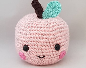 Handmade Crocheted Cheeky Apple Amigurumi Doll/ Apple Plushy/ Crocheted Apple Toy/ Nursery Decor/ Play Food / Children's Bedroom Decor