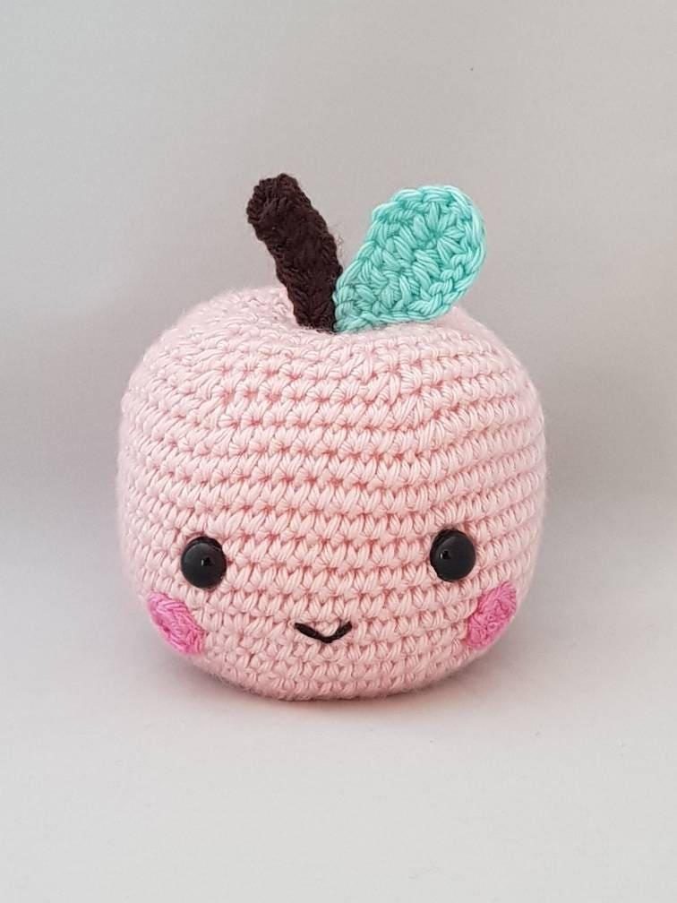 Crochet Apple - Free Mini Amigurumi Pattern | Crochet apple ... | 1008x756